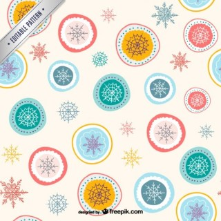 Abstract Christmas Pattern Free Vectors