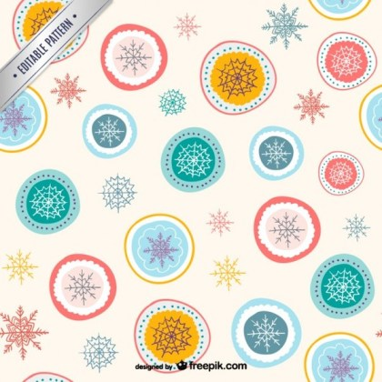 Abstract Christmas Pattern Free Vectors