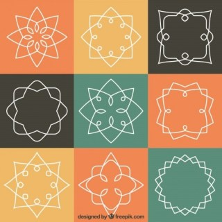 Abstract Outline Emblems Free Vectors
