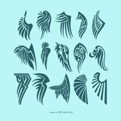 Angel Wings Tattoos Free Vectors