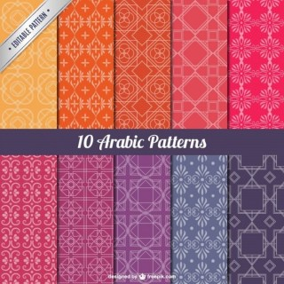 Arabic Patterns Pack Free Vectors