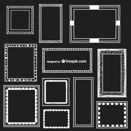 Art Frames Vector Collection Free Vectors