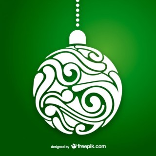Artistic Christmas Ball Vector Free Vectors