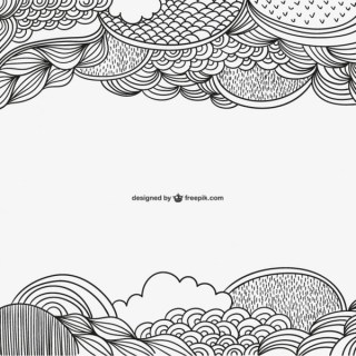 Background with Calligraphic Ornaments Free Vectors