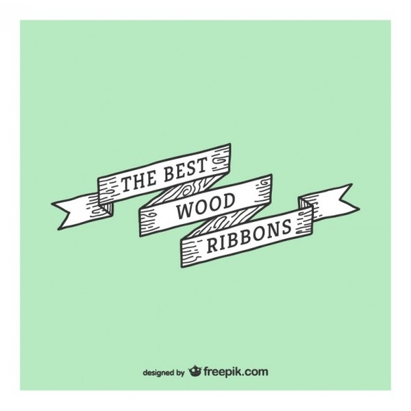 Best Wood Ribbon Vector Free Vectors