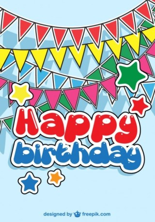 Birthday Party Baby Card Free Vectors