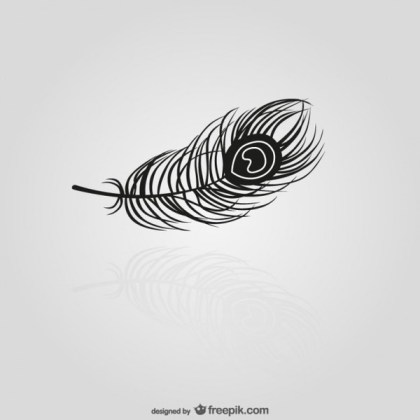 Black Feather Silhouette Free Vectors