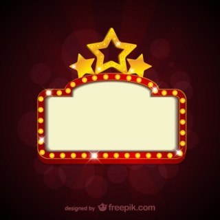 Blank Movie Theater Sign Free Vectors