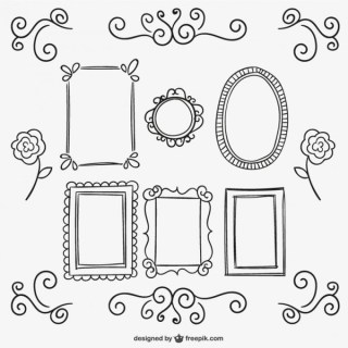 Calligraphic Frames and Ornaments Free Vectors