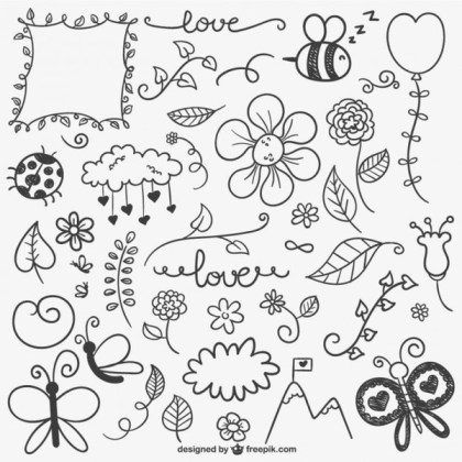 Calligraphic Ornaments Collection Free Vectors