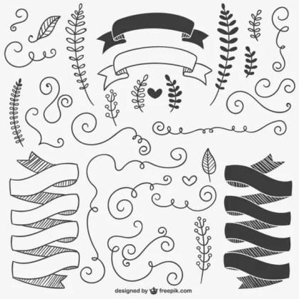 Calligraphic Ornaments Pack Free Vectors
