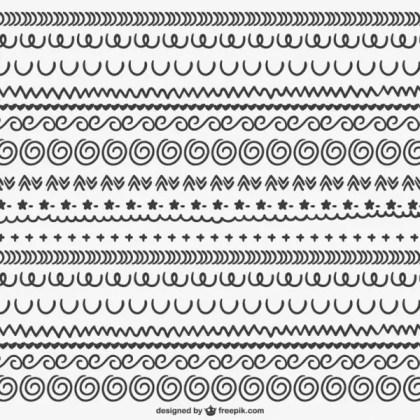 Calligraphic Ornaments Pattern Free Vectors