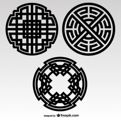 Celtic Knots Tribal Elements Free Vectors