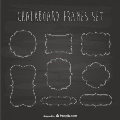 Chalkboard Frames Collection Free Vectors