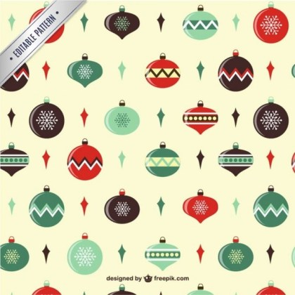 Christmas Balls Pattern Free Vectors