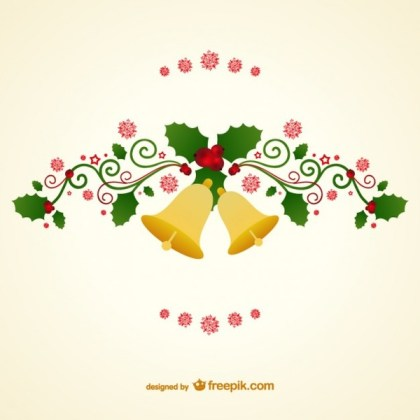 Christmas Bells Vector Free Vectors