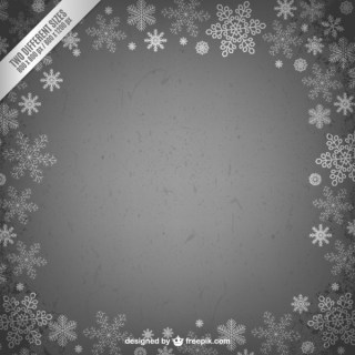 Christmas Frame with Snowflakes Free Vectors
