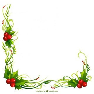 Christmas Holly Frame Free Vectors
