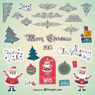 Christmas Ornaments Collection Free Vectors