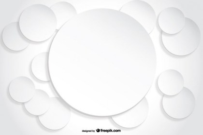 Circle Background Paper Cutout Effect Free Vectors