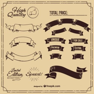 Classic Banners Collection Free Vectors