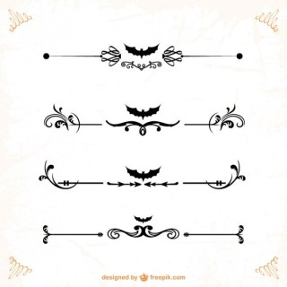 Classic Ornaments and Dividers For Halloween Vector Graphicss Free Vectors