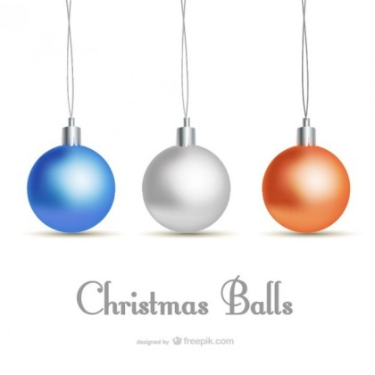 Classic Style Christmas Card with Baubles Free Vectors