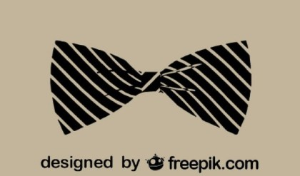 Classic Vintage Style Fashion Bowtie Icon Free Vectors