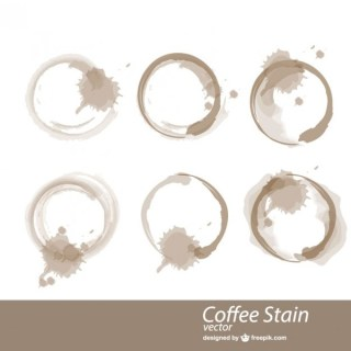 Coffee Cup Stains Vector Free Vectors