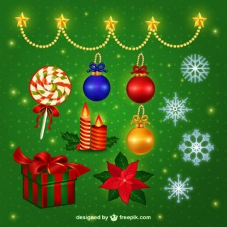Colorful Christmas Baubles Pack Free Vectors