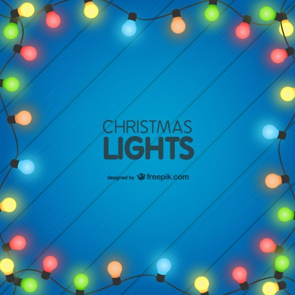 Colorful Christmas Lights Background.Colorful Christmas Lights Background Free Vectors
