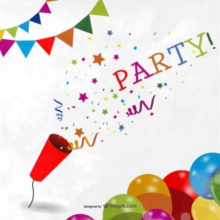 Colorful Party Background Free Vectors