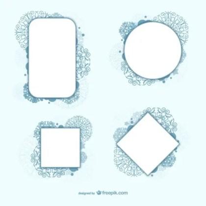 Decorative Circle and Square Framework Vectors Free Vectors