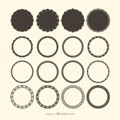 Decorative Circle Frame Vectors Free Vectors