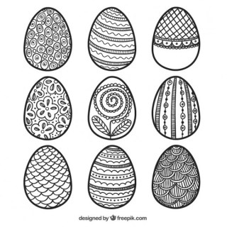Decorative Easter Eggs Free Vectors
