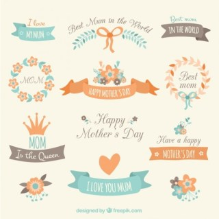 Decorative Elements For Mothers Day Free Vectors