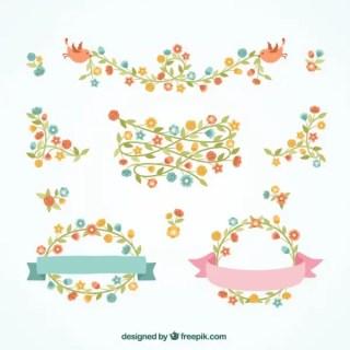 Decorative Floral Borders Free Vectors