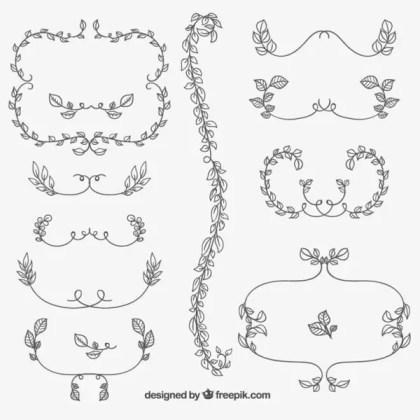 Decorative Floral Ornaments Free Vectors