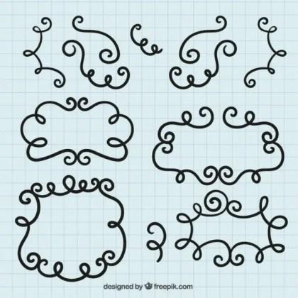 Doodle Frames Free Vectors