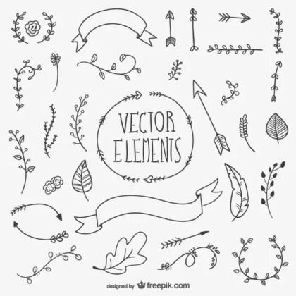 Drawn Vector Elements Free Vectors