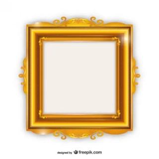 Elegant Golden Frame Free Vectors