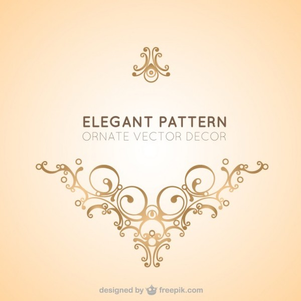 Elegant Vector Decorative Ornament Free Vectors