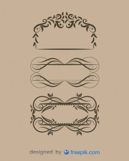 Fabulous Vintage Style Floral Frame Collection Free Vectors