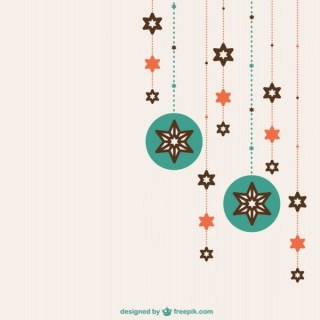 Flat Christmas Ornaments Free Vectors