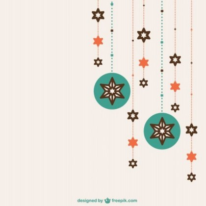 Flat Christmas Ornaments Free Vectors