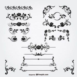 Floral Decorations Vector Free Vectors