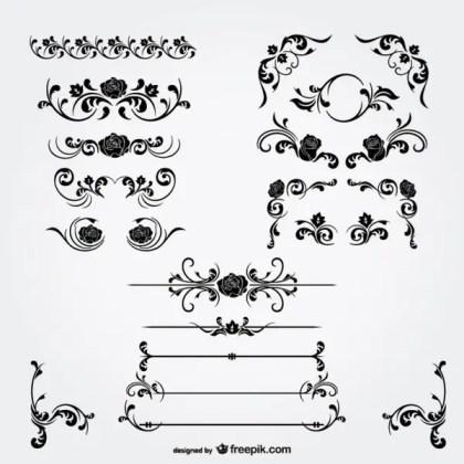 Floral Decorations Vector Free Vectors