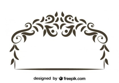 Floral Decorative Retro Style Header Vector Graphics Free Vectors