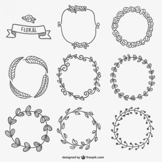 Floral Frames Collection Free Vectors
