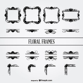 Floral Frames Vector Collection Free Free Vectors